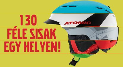 You can choose from among 130 kinds of helmets!